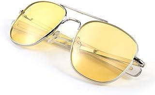 نظارات شمسية رجالي من FEISEDY بتصميم الطيار العسكري مربع الظل المعدني B2623