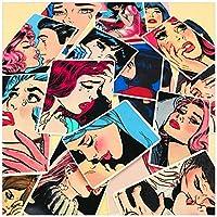 20ピース/バッグ手描画恋人女の子ステッカーDIYクラフトスクラップブッキングアルバムジャンクジャーナルプランナー装飾ステッカー