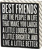 Primitives by Kathy Box Sign - Best Friends, 6x7 inches, Black, White