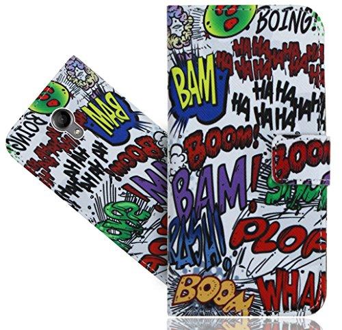 Wiko Robby Handy Tasche, FoneExpert® Wallet Hülle Flip Cover Hüllen Etui Hülle Ledertasche Lederhülle Schutzhülle Für Wiko Robby