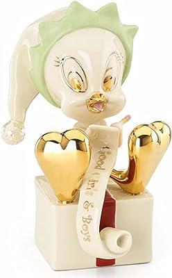 Lenox Tweety Santa's Helper Elf Figurine Bird Christmas List Looney Tunes