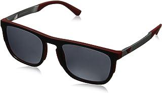 60e4c8b8fb Emporio EA4114 56726G Armani - anteojos de sol cuadradas (categoría 3),  color rojo