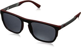 Emporio Armani EA4114 56726G Matte Red EA4114 Square Sunglasses Lens Category 3