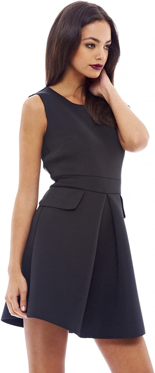 AX Paris Women's Scuba Pleated Dress