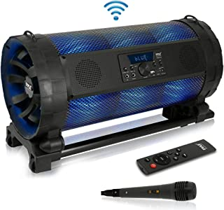 Portable Bluetooth Boombox Stereo System - 600 W Digital Outdoor Wireless Loud Speaker w/LED Lights, FM Radio, MP3 Player,...