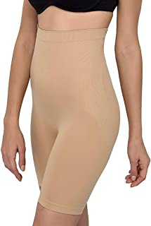 Dilency Sales All-In-1 Shaper - Tummy, Back, Thighs, Hips - Seamless Shapewear Body Shaper (Best Fits Upto 32 to 36 Waist Size)
