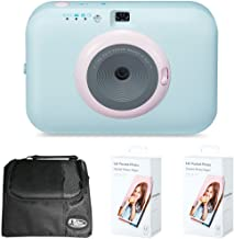 LG PC389S Pocket Photo Snap Instant Camera and Photo Printer Bundle with Camera Bag for DSLR and 2X Pocket Photo Paper