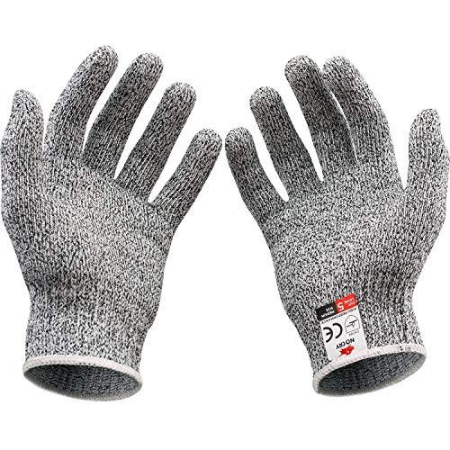[Civil Life]軍手 防刃 防刃手袋 作業用 手袋 3サイズ(通常タイプ) 作業グローブ 切れない手袋 耐切創 料理用レベル5 ナイフ 刃物 ガラス 釣り農作業 (L)