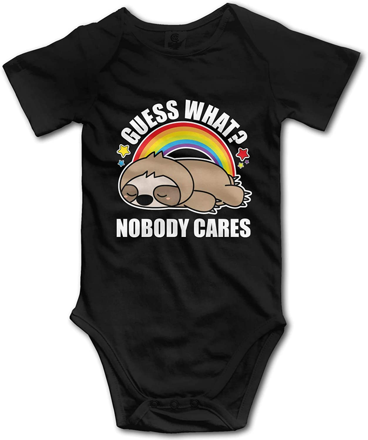 Guess What Nobody Cares Funny Max 87% OFF Onesie Baby It is very popular Short-Sleeve Bod Sloth