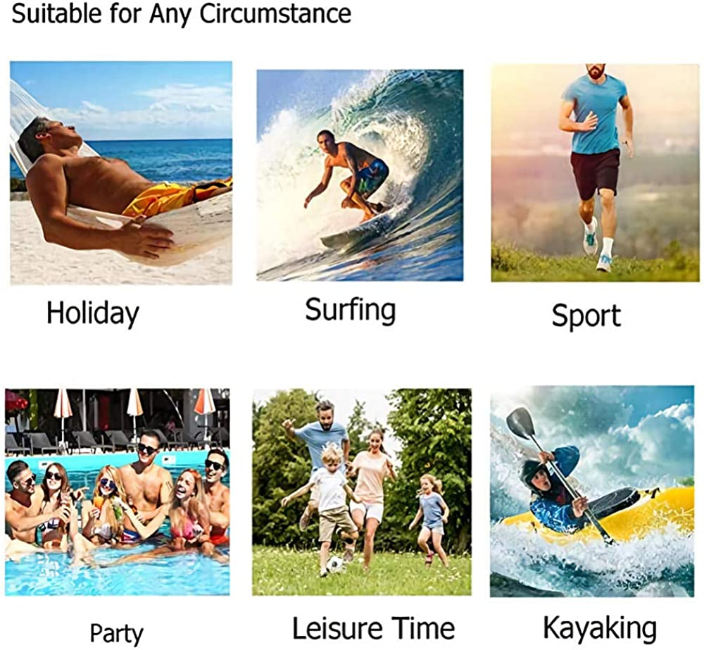CTYKO Mens Shorts Swim Trunks Quick Dry Print Surf Beach Shorts Elastic Waist with Pocket
