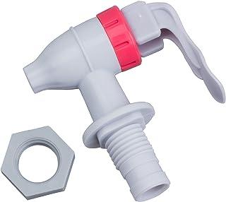 SODIAL(R) Grifo de Plastico para Dispensador de Agua Tipo de Empuje - Blanco Rojo
