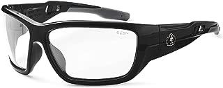Ergodyne Skullerz Baldr Safety Glasses-Black Frame, Clear Lens