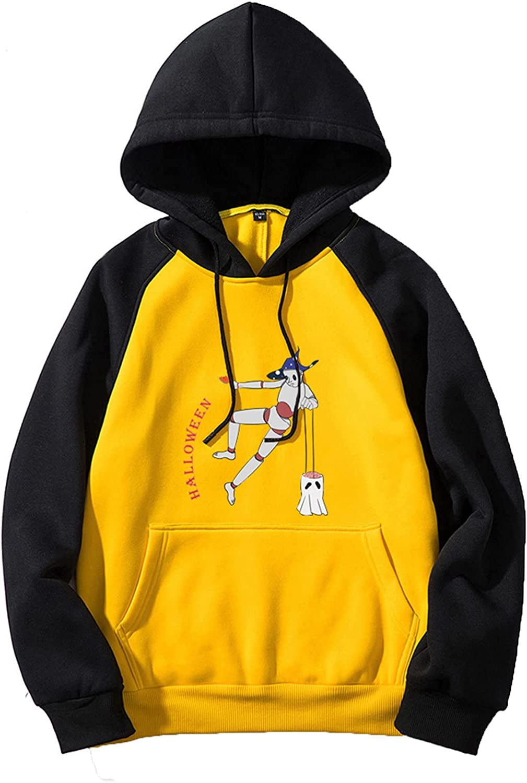 Halloween Men's Pullover Hoodie Cute Funny Graphic Hooded Sweatshirts