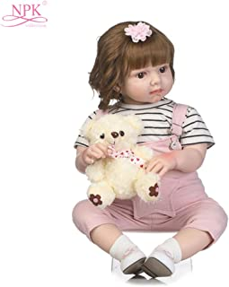 Docooler 27in Reborn Baby Rebirth Doll Kids Gift Cloth Material Body