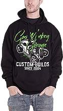 Gas Monkey Garage Hoodie Custom Builds Neon Logo Official Mens Black Pullover