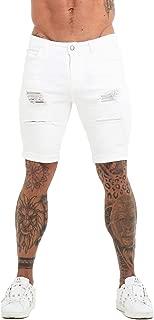 white jeans shorts mens
