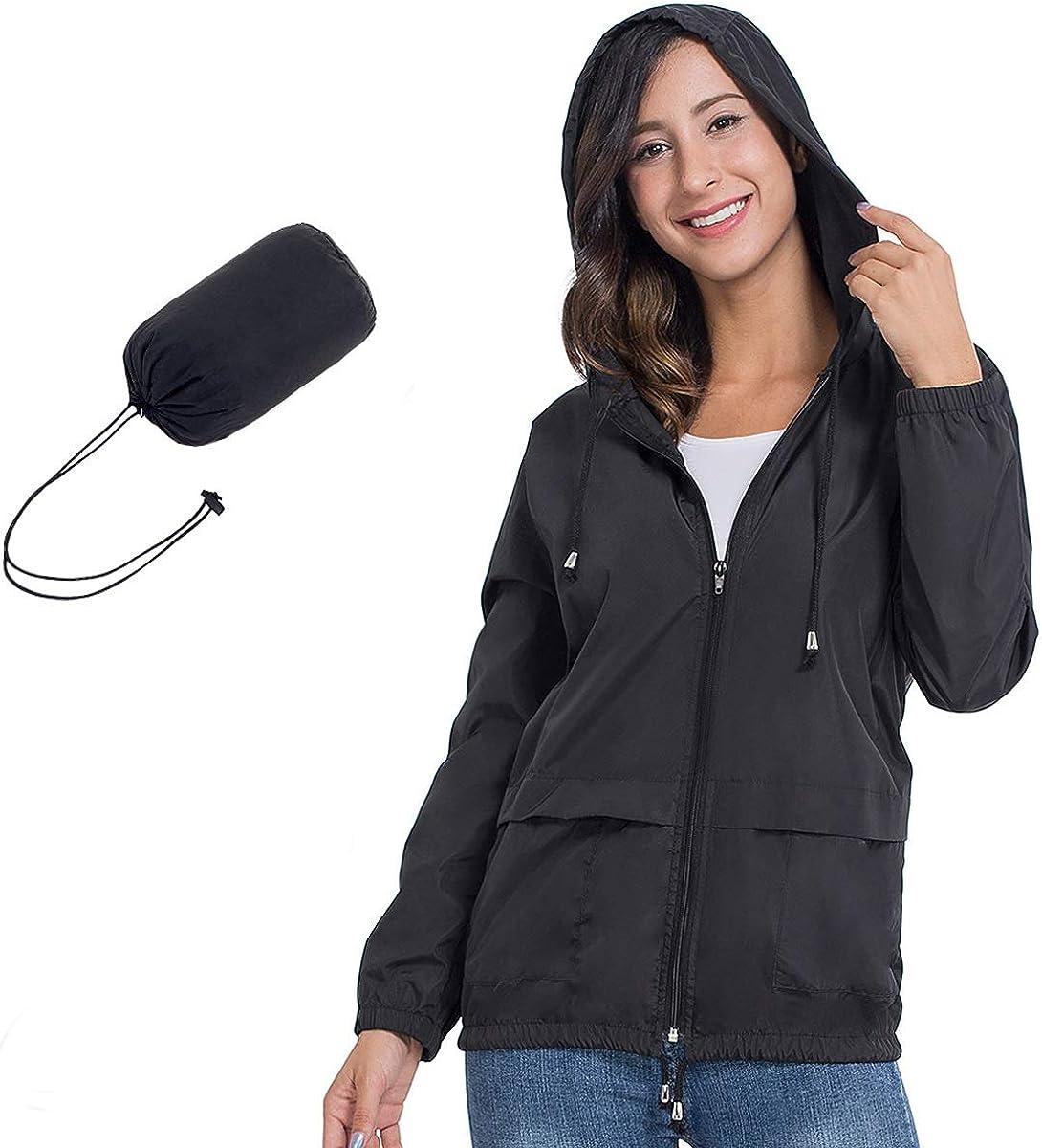 JTANIB Womens Raincoat Easy-to-use Windbreaker Waterproof Lightweight San Antonio Mall Packab