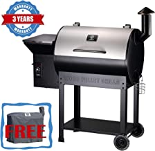 Z GRILLS Wood Pellet Grill & Smoker with Newest Updated Digital Controls, 700 sq. in Grill Master Essential Barbecue Grill
