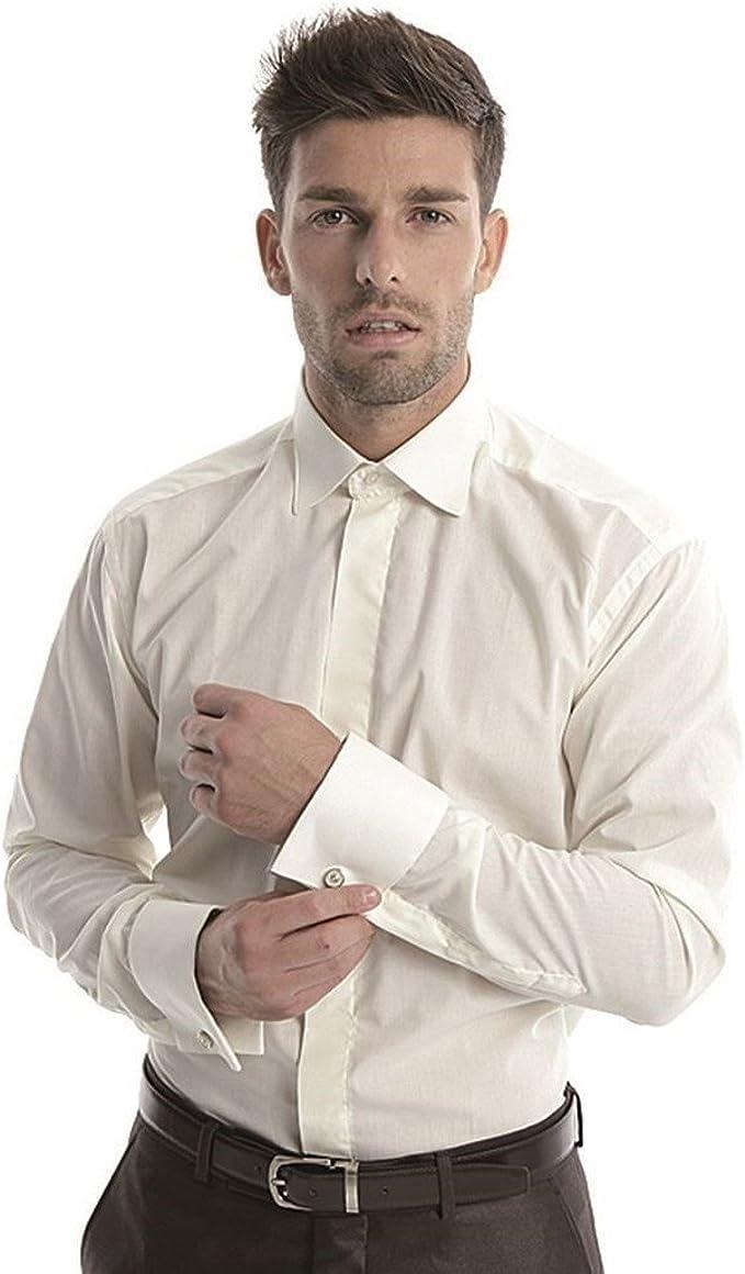 Normales hemd an manschettenknöpfe Manschettenhemden