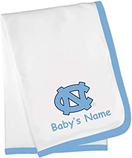North Carolina UNC Tar Heels Custom Personalized Baby Blanket