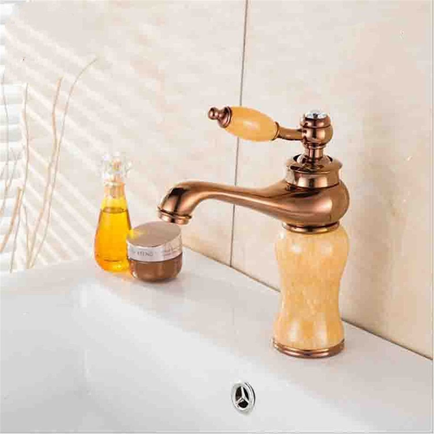 ETERNAL QUALITY Bathroom Sink Basin Tap Brass Mixer Tap Washroom Mixer Faucet Basin taps and cold water wash basin mixer marble gold ceramic antique bathroom faucet 5 Kit