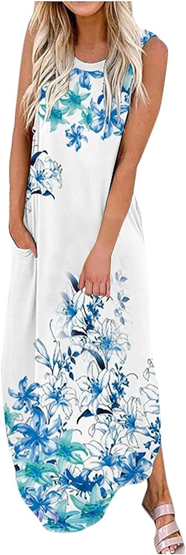 Women's Direct sale of manufacturer Mini Dress Women Summer Boho Lon Sleeveless Pocket Maxi Sales