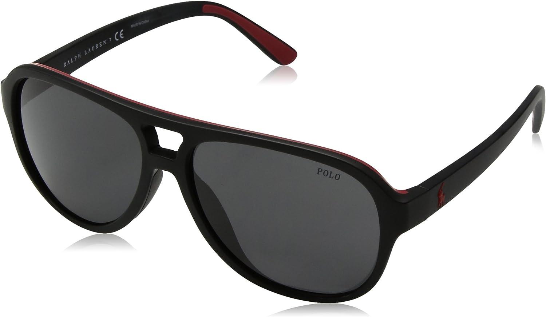 Polo Ralph Lauren Herren 0Ph4123 0Ph4123 0Ph4123 500187 58 Sonnenbrille, Schwarz (schwarz rot grau) B06XDFMPJ3  Elegant und feierlich f747e1