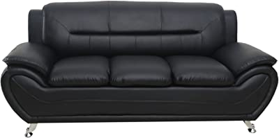 Container Furniture Direct Michael Sofa, Black