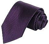 Classic Woven Men's Ties Neckties for Wedding Graduation Party Dress (Purple)