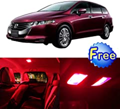 SCITOO LED Interior Lights 14pcs Red Package Kit Accessories Replacement for 2005-2010 for Honda Odyssey