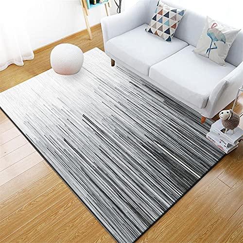 Alfombras Acusticas Alfombra Habitacion Infantil Diseño gráfico Abstracto Minimalista Moderno Gris Alfombra Pelo Corto Salon 100X200cm
