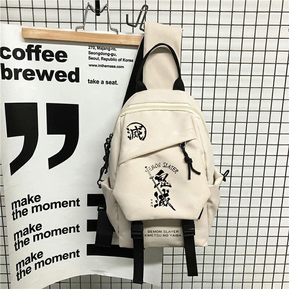 Qiqioog Limited time cheap sale Same day shipping Ghost Kill Demon Slayer Shoulder Messenger Backpack Bag