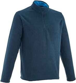 Men's Mountain Hiking Fleece Forclaz 50, Active Sport, 100% ECO-Design Micro Fleece, Size Large