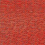 1 Pappe Ziegelmauer rot lose -