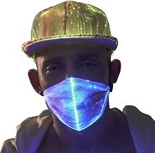 1clienic LED Rave Mask Light Up LED Dust Mask Glow 7 Color Rechargeable Luminous LED Mask Light Up Party for Summer EDM EDC Easter St. Patrick's Day Men Women Boys