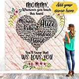 VTH Global Personalized Custom Daughter Son Kids Name to My Mom Mothers Day Quilt Fleece Throw Blanket Queen Twin Size Tapestry Wall Hanging
