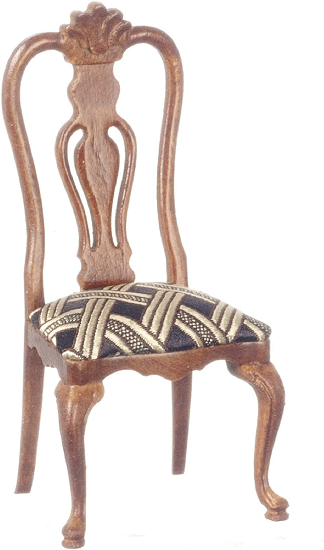 Melody Jane Dollhouse Walnut Wood Wood Wood Hayes Side Chair