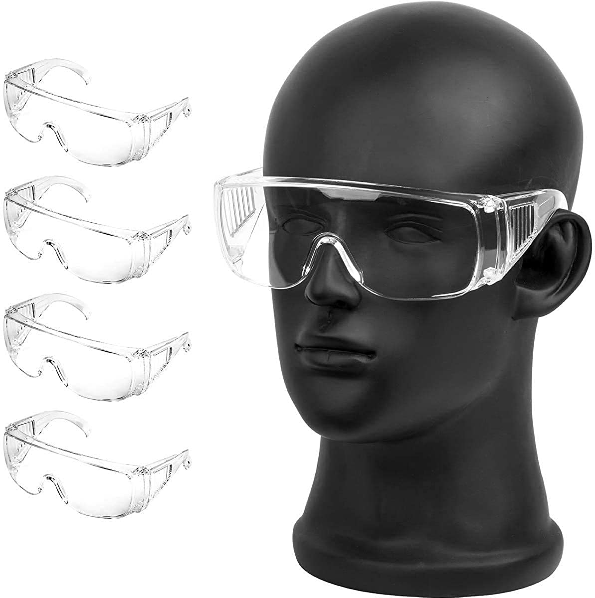 Glasses Shield, Anti Fog Face Protective Reusable, Safety Goggle