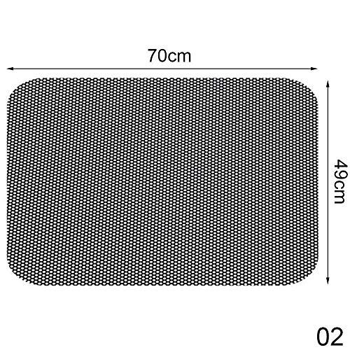 LLDEJUSH Protector solar para coche, 2 unidades, PVC, con pequeños agujeros, 70 x 49 cm