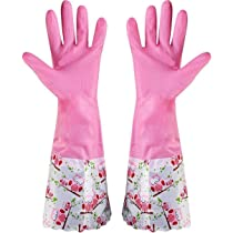 Spartan SSLG001 Dishwashing Rubber Gloves | Stretchable Scrubbing Gloves (Multicolor, 1 Pair)