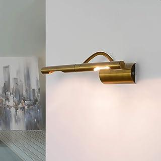 Elegante lámpara para cuadros en bronce, 2 x G9, ancho: 29 cm, diseño clásico