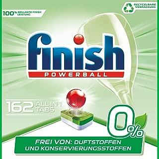 Finish 亮碟 0% 洗碗機專用洗滌塊, 潔凈功效出色,不含香精和防腐劑,超大包裝,162個裝