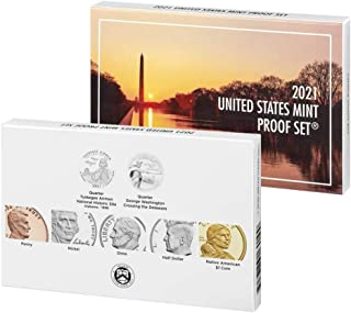 2021 S 7 Coin Clad Proof Set in OGP with CoA and 3 Free 1943 Steel Pennies Included Proof
