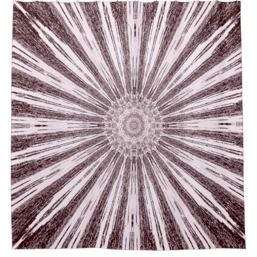 daoyiqi Sepia Sunflower Hippy Design Print Duschvorhang für Badezimmer, Baddekoration, heller Stoff, Duschvorhang mit 12 Haken, mehrfarbig, 200 x 182 cm
