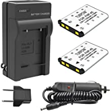 TURPOW 2 Pack NP-45 NP-45A NP-45B NP-45S Battery & Charger Compatible with Fujifilm FinePix XP20 XP30 XP60 XP70 XP80 XP90 ...