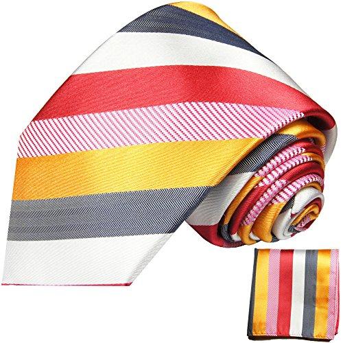 Cravate homme multicolore rayée ensemble de cravate 2 Pièces ( longueur 165cm )