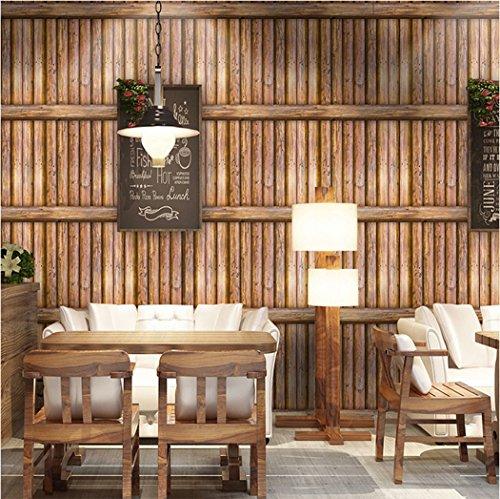 Glow4u 3D rustikt trä kontaktpapper vinyl självhäftande hylla foder för kök stänkskydd bänkskåp möbler väggkonst dekal hantverk gör-det-själv 45 cm x 5 m