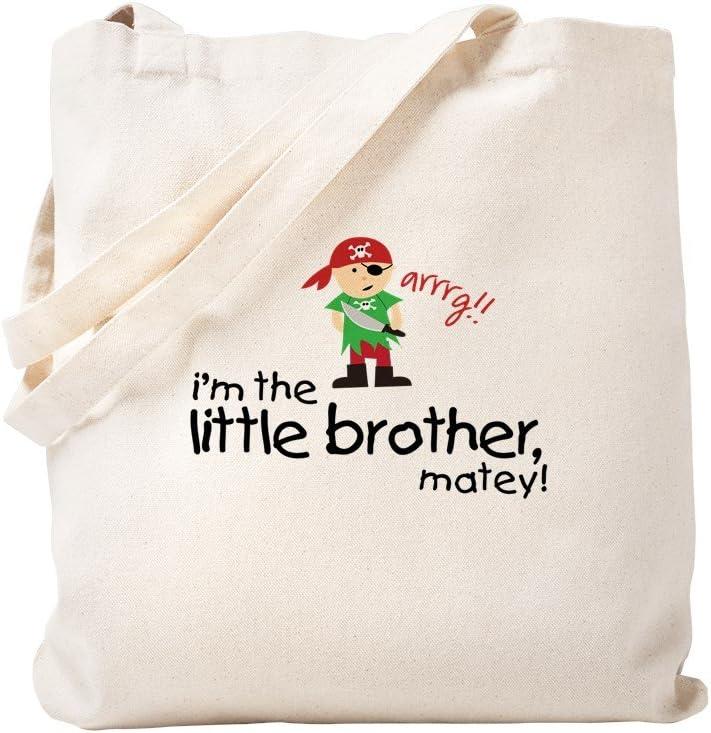 CafePress Little Brother Shirt Pirate Tote Bag Natural Canvas Tote Bag, Reusable Shopping Bag