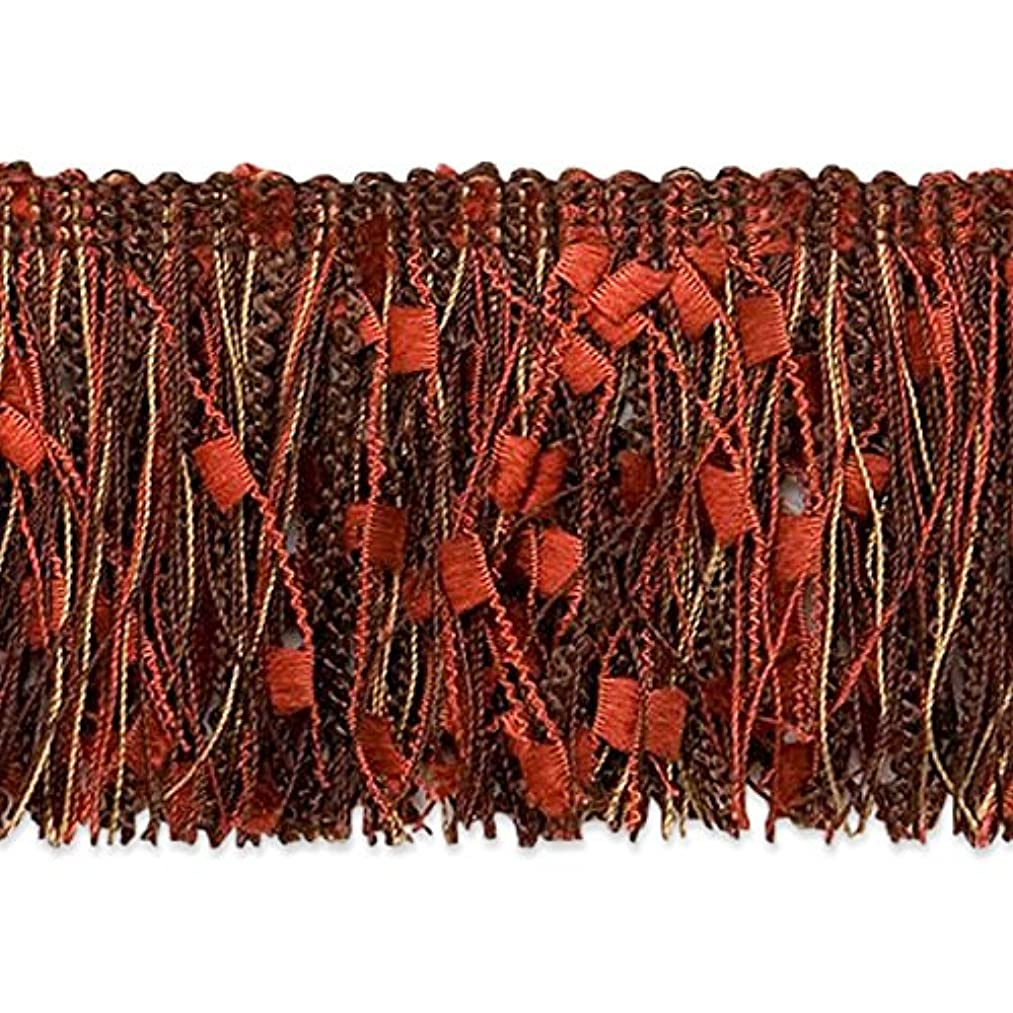 Expo International Chocolate RIC-Rac Patch Cut Fringe Trim, 20 yd, Multicolor