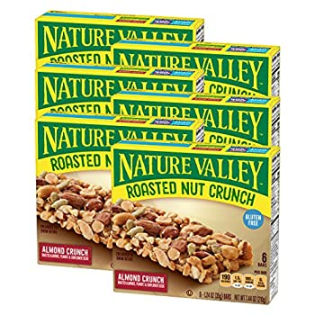 Nature Valley Granola Bars Roasted Nut Crunch Almond Crunch  Each 6 Count of 1.24 oz Bars  7.44 oz Pack of 6